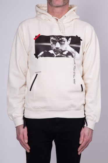 Raging Bull Hooded Sweatshirt Off White