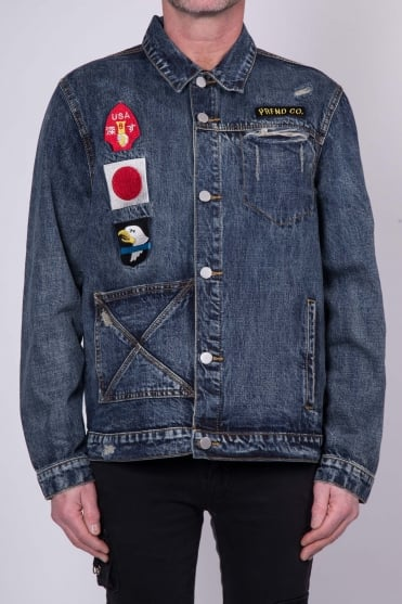 Dark Washed Denim Jacket Blue