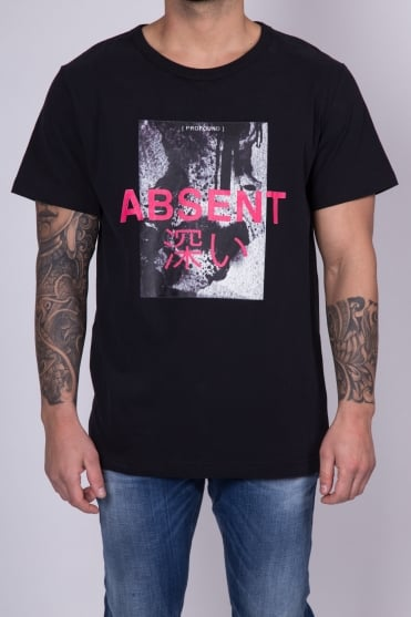 Absent Printed T-Shirt Black