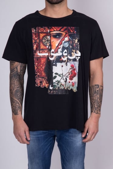Amorist Printed T-Shirt Black