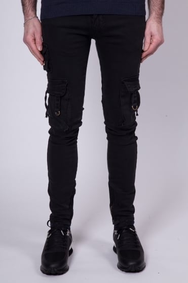D-Ring Cargo Pant Jeans Black