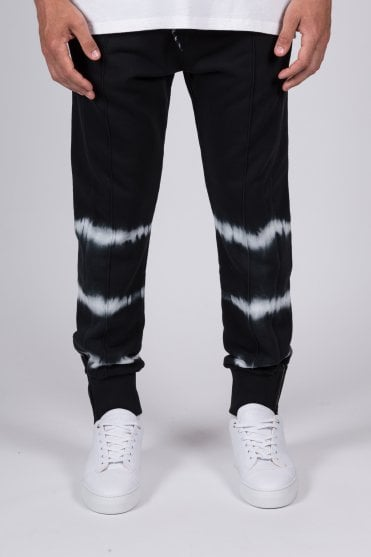 Tie Dye Detail Sweatpants Black