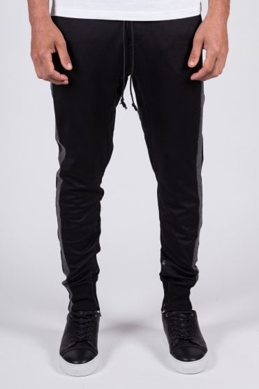 Overlap Trackpants Black/Charcoal