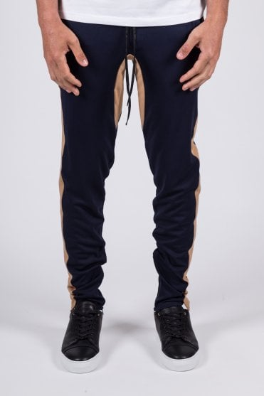 Racer Trackpants Navy/Tan